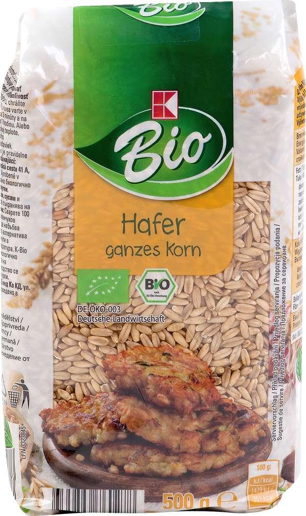 Abbildung des Sortimentsartikels K-Bio Hafer ganzes Korn 500g