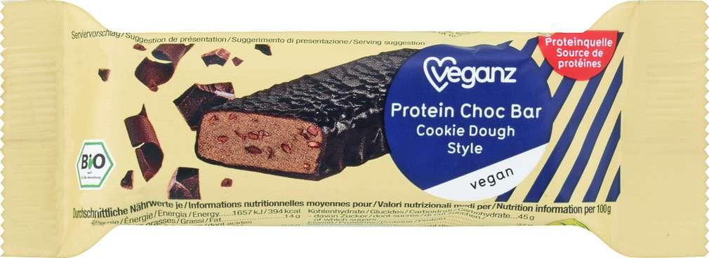 Abbildung des Sortimentsartikels Veganz Bio Protein Choc Bar Cookie Dough Style 50g