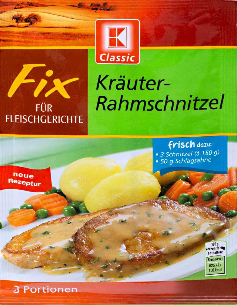 Abbildung des Sortimentsartikels K-Classic Fix Kräuter-Rahmschnitzel 38g