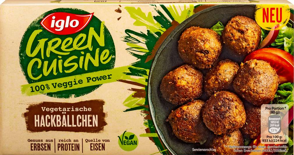 Abbildung des Sortimentsartikels Iglo Green Cuisine Vegetarische Hackbällchen 240g