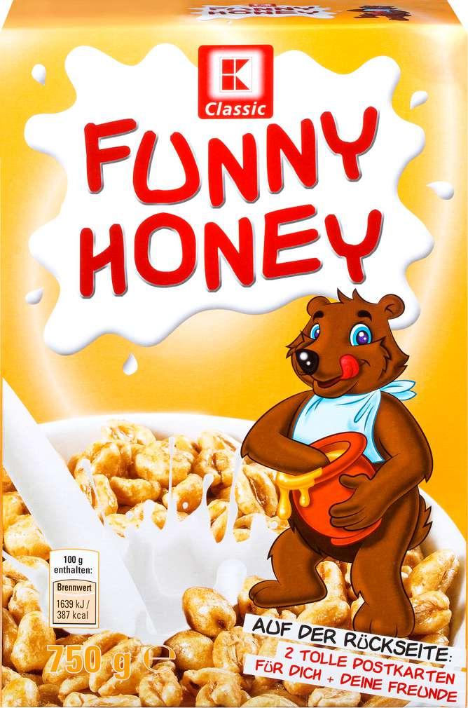 Abbildung des Sortimentsartikels K-Classic Funny Honey Weizenpuffs 750g