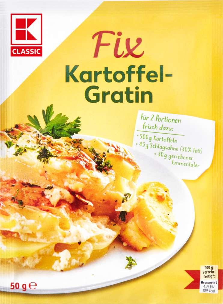 Abbildung des Sortimentsartikels K-Classic Fix für Gemüsegerichte Kartoffel-Gratin 3 Portionen