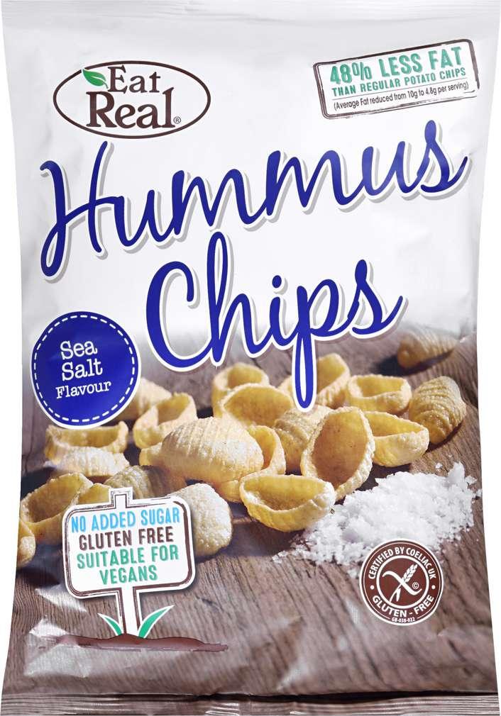 Abbildung des Sortimentsartikels Eat Real Hummus Chips Sea Salt Flavour 135g