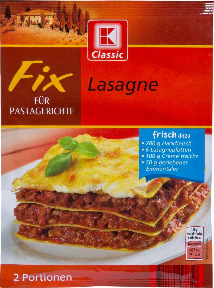 Abbildung des Sortimentsartikels K-Classic Fix für Pastagerichte Lasagne 50g