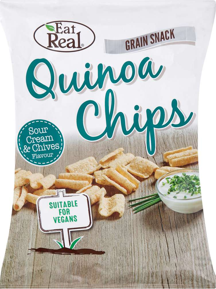 Abbildung des Sortimentsartikels Eat Real Quinoa Chips Sour Cream & Chives 80g