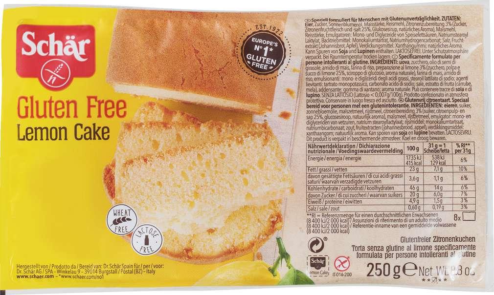 Abbildung des Sortimentsartikels Schär Lemon Cake gf lf 250g