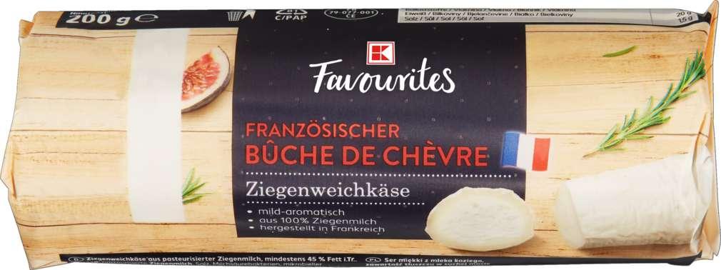 Abbildung des Sortimentsartikels K-Favourites Ziegenweichkäse 45% Fett i.Tr. 200g
