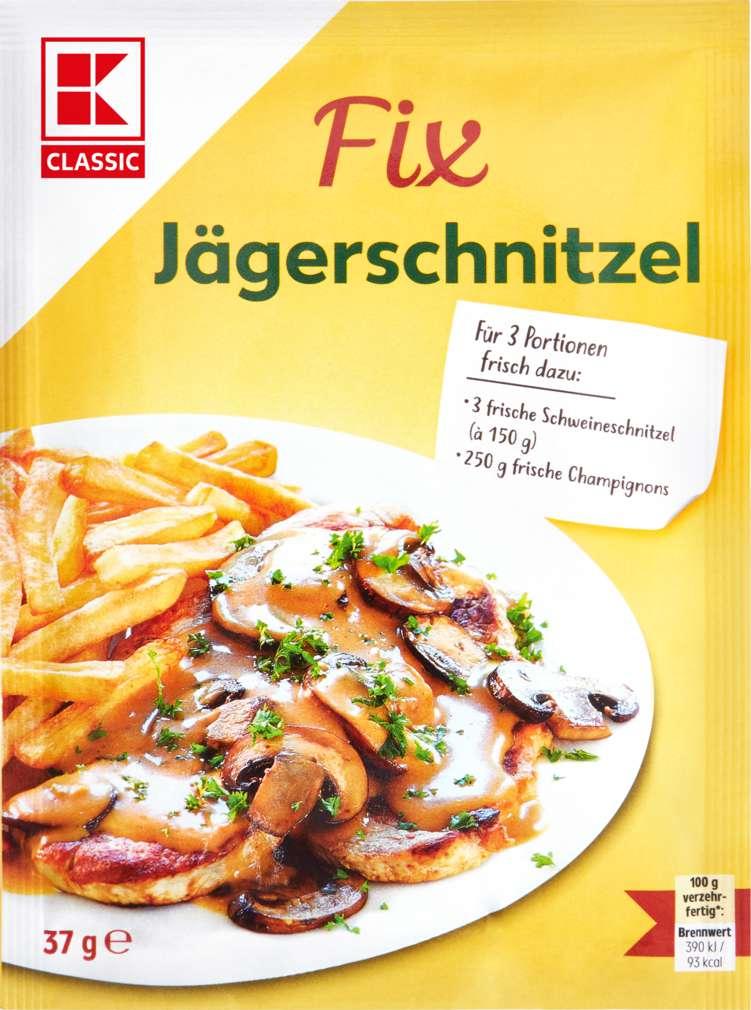Abbildung des Sortimentsartikels K-Classic Fix für Fleischgerichte Jägerschnitzel 3 Portionen