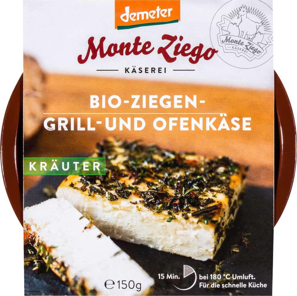 Abbildung des Sortimentsartikels Monte Ziego Demeter Ziegen - Grill-und Ofenkäse 150g
