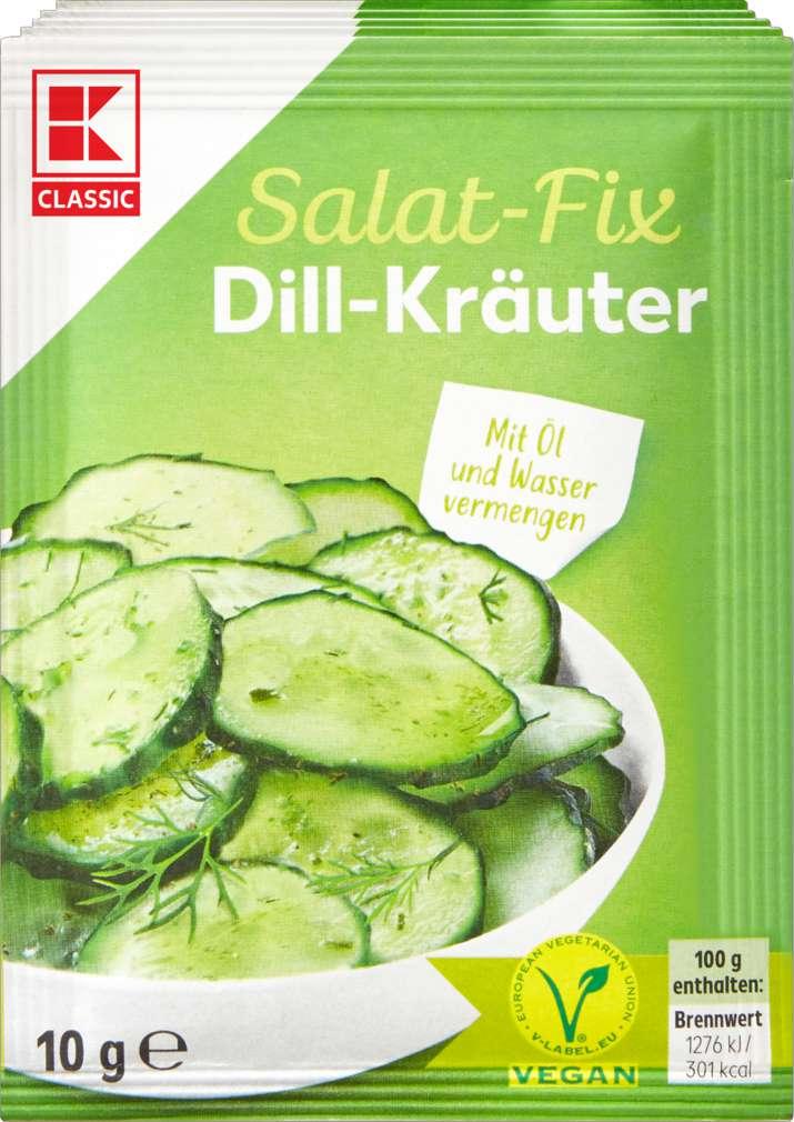 Abbildung des Sortimentsartikels K-Classic Fix für Salatsauce Dill-Kräuter 5x10g