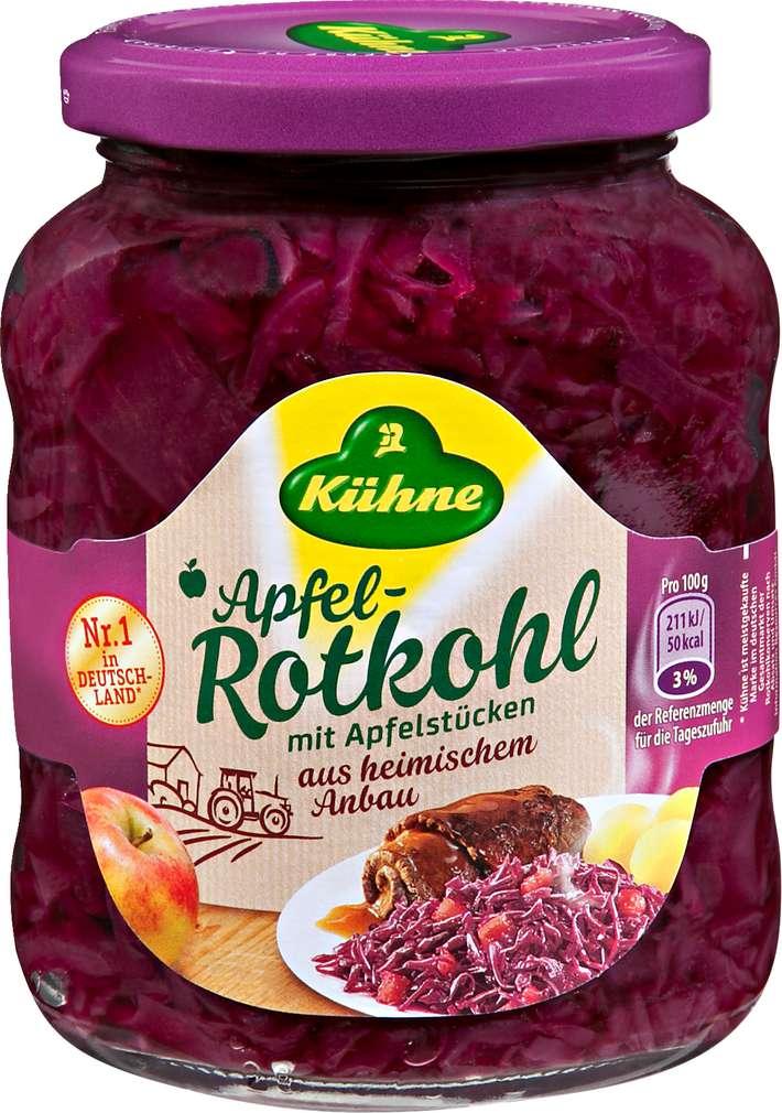 Abbildung des Sortimentsartikels Kühne Apfel-Rotkohl 350g
