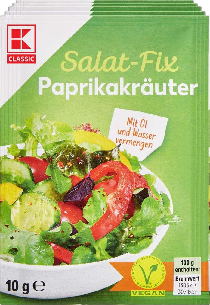 Abbildung des Sortimentsartikels K-Classic Fix für Salatsauce Paprika-Kräuter 5x10g