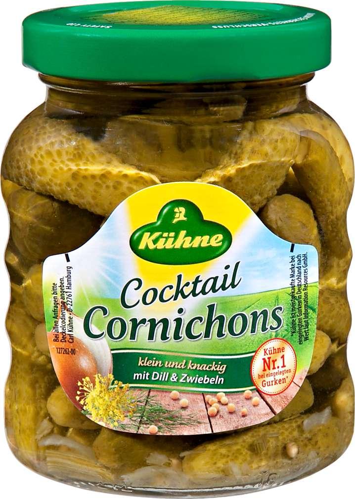 Abbildung des Sortimentsartikels Kühne Cocktail Cornichons 180g