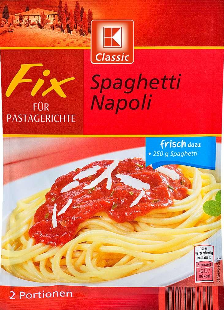Abbildung des Sortimentsartikels K-Classic Fix Spaghetti Napoli 42g