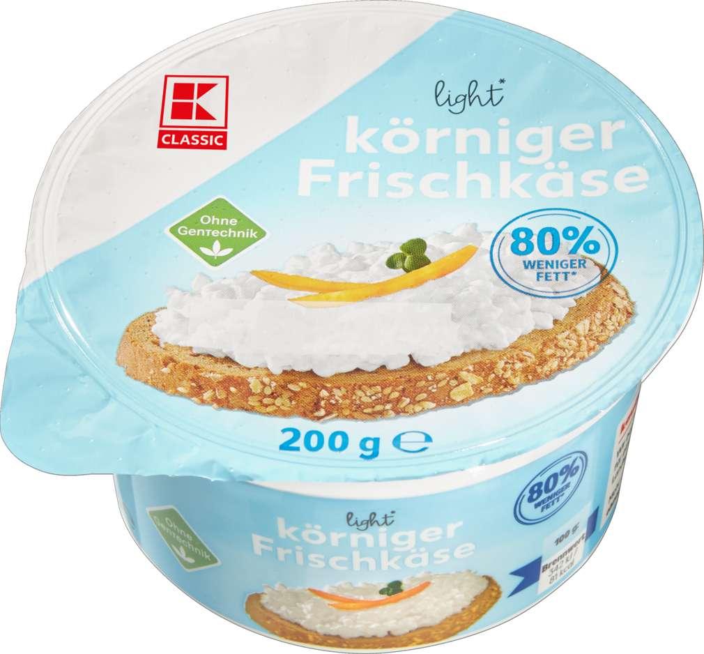 Abbildung des Sortimentsartikels K-Classic Körniger Frischkäse 0,4% Fett i.Tr. 200g