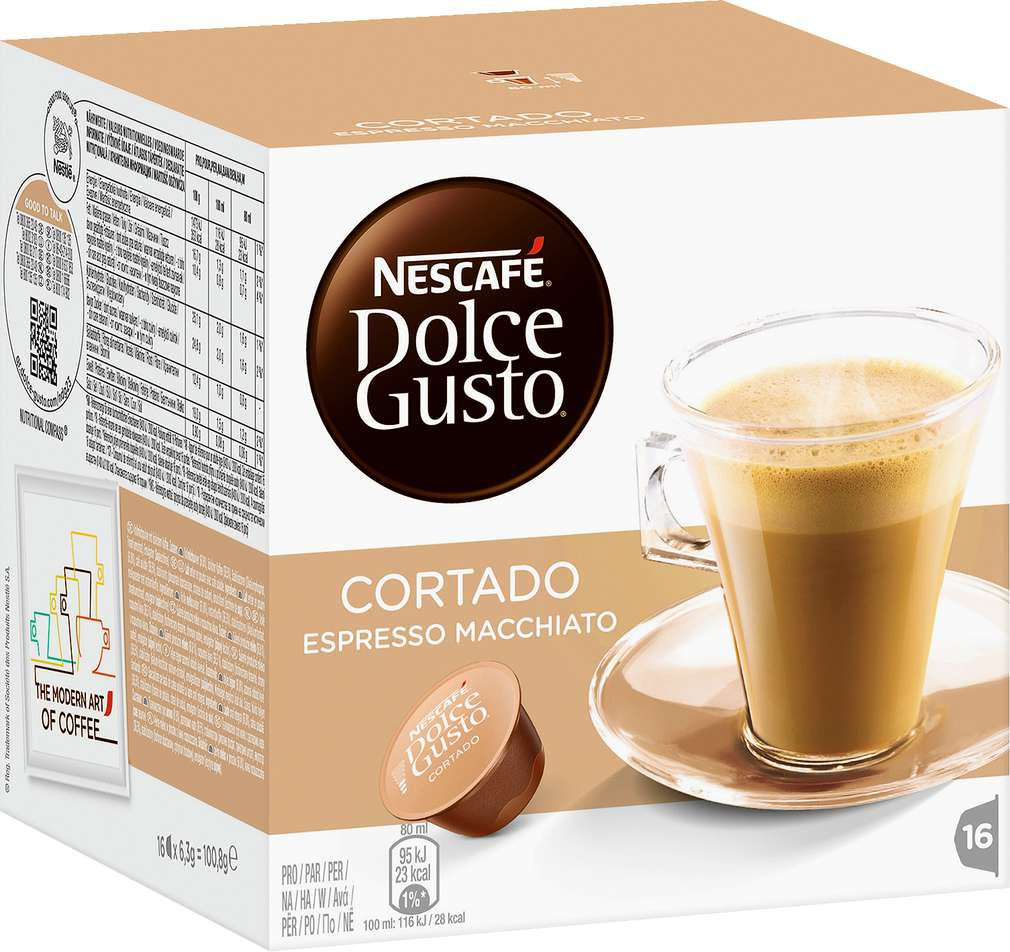 Abbildung des Sortimentsartikels Nescafé Cortado Espresso Macchiato 100g, 16 Kapseln