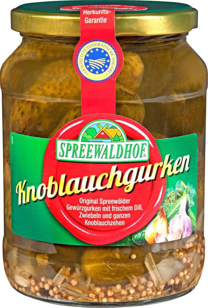 Abbildung des Sortimentsartikels Spreewaldhof Knoblauchgurken 670g