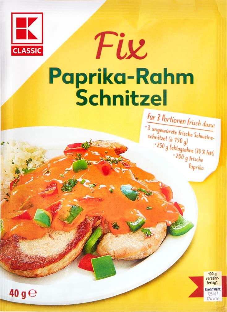 Abbildung des Sortimentsartikels K-Classic Fix für Fleischgerichte Paprika-Rahmschnitzel 3 Portionen