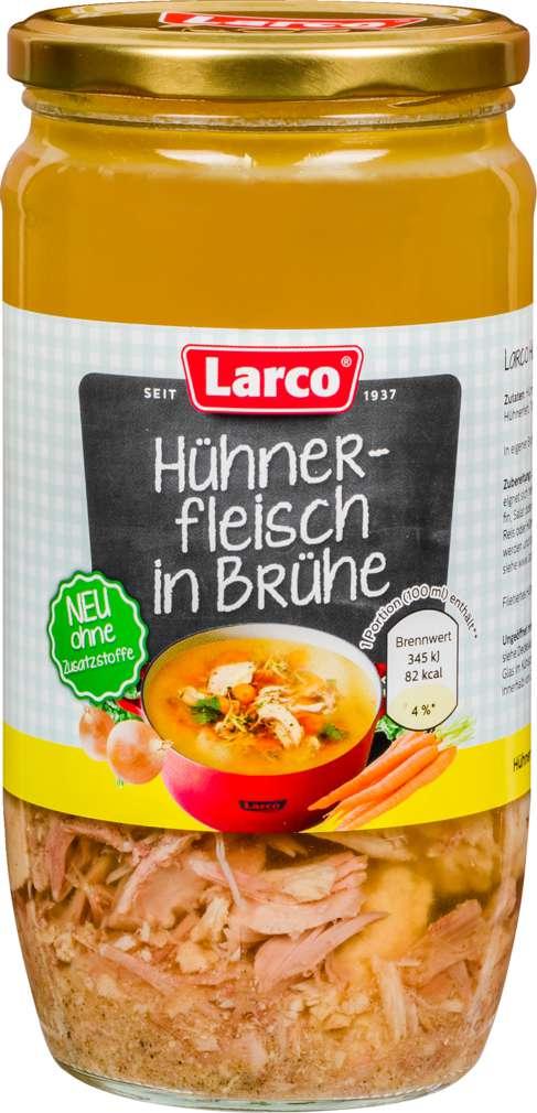 Abbildung des Sortimentsartikels Larco Hühnerbrühe mit extra Fleisch 800ml