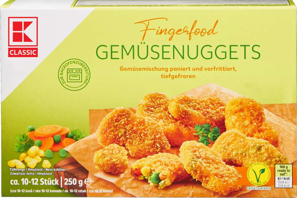 Abbildung des Sortimentsartikels K-Classic Gemüse - Nuggets 250g