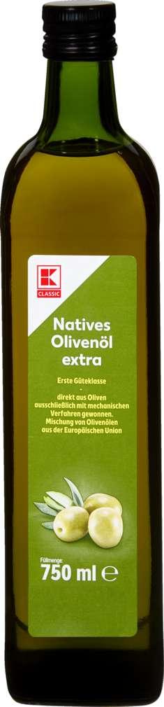 Abbildung des Sortimentsartikels K-Classic Extra Natives Olivenöl 750ml