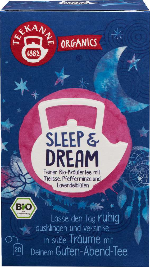 Abbildung des Sortimentsartikels Teekanne Bio Organics Sleep & Dream 20x1,8g