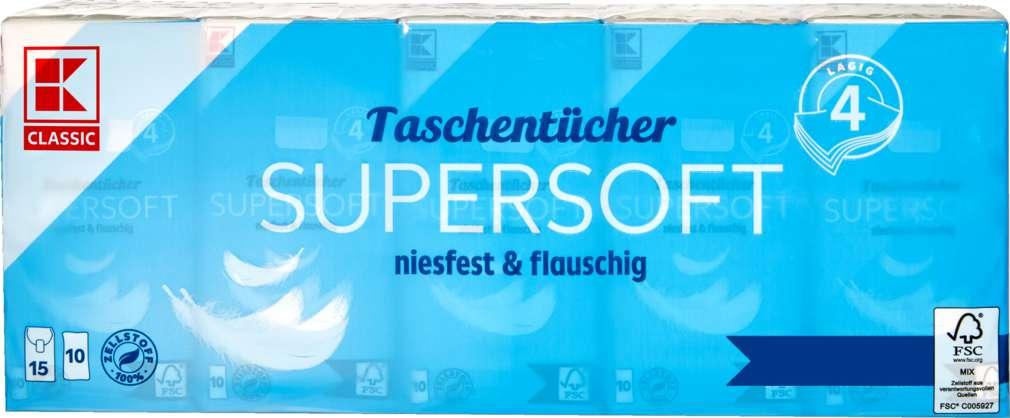 Abbildung des Sortimentsartikels K-Classic Taschentücher 4-lagig 15x10St