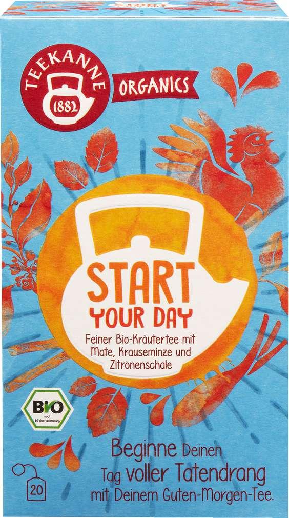 Abbildung des Sortimentsartikels Teekanne Bio Organics Start Your Day 20x1,8g