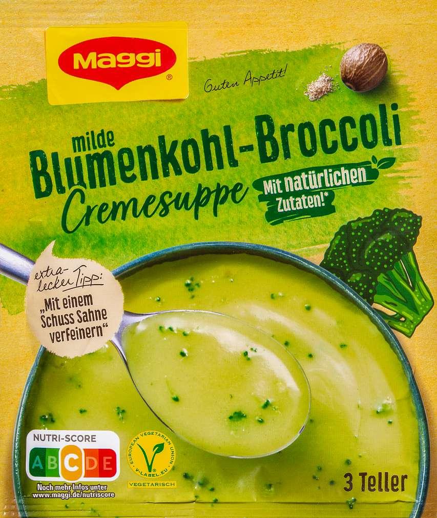 Abbildung des Sortimentsartikels Maggi Guten Appetit Blumenkohl Broccoli Suppe ergibt 750ml