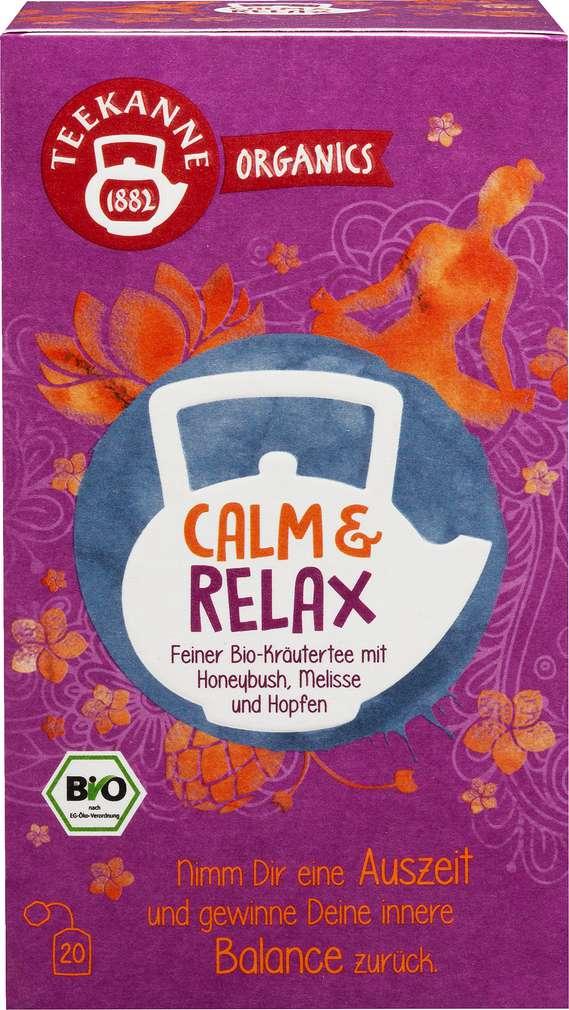 Abbildung des Sortimentsartikels Teekanne Bio Organics Calm & Relax 20x1,8g