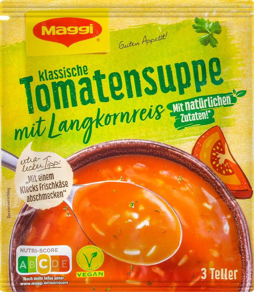Abbildung des Sortimentsartikels Maggi Guten Appetit Suppe Tomate mit Reis ergibt 750ml