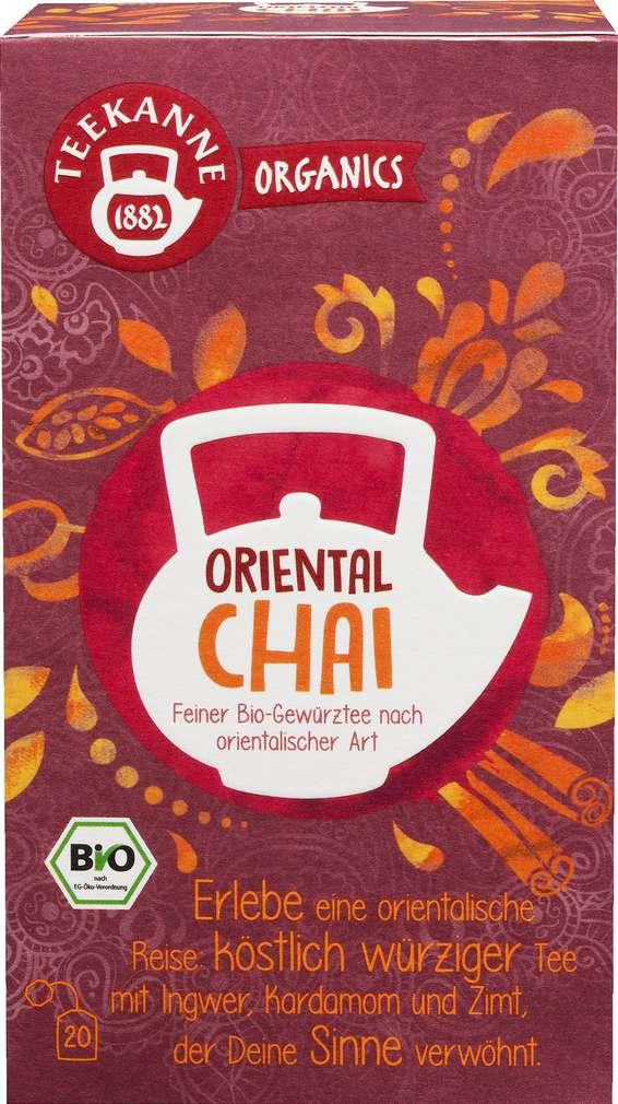 Abbildung des Sortimentsartikels Teekanne Bio Organics Oriental Chai 20x1,8g