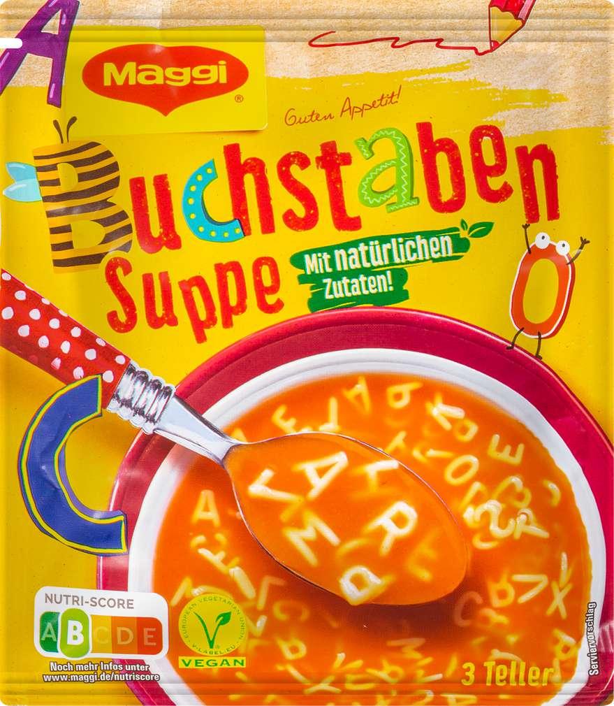 Abbildung des Sortimentsartikels Maggi Guten Appetit Suppe ABC Buchstabensuppe 750ml