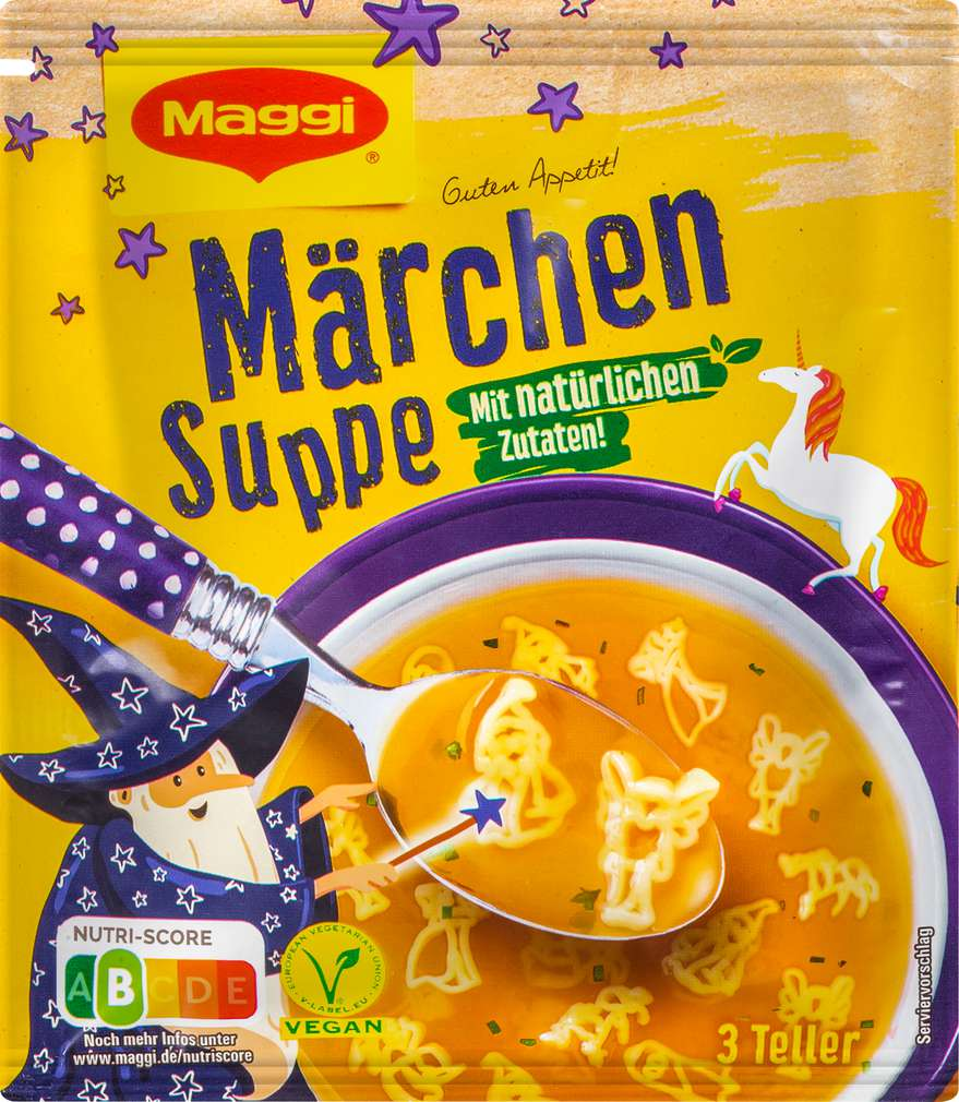 Abbildung des Sortimentsartikels Maggi Guten Appetit Märchen Suppe ergibt 750ml
