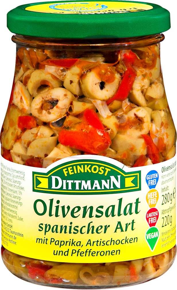 Abbildung des Sortimentsartikels Dittmann Olivensalat spanischer Art 280g