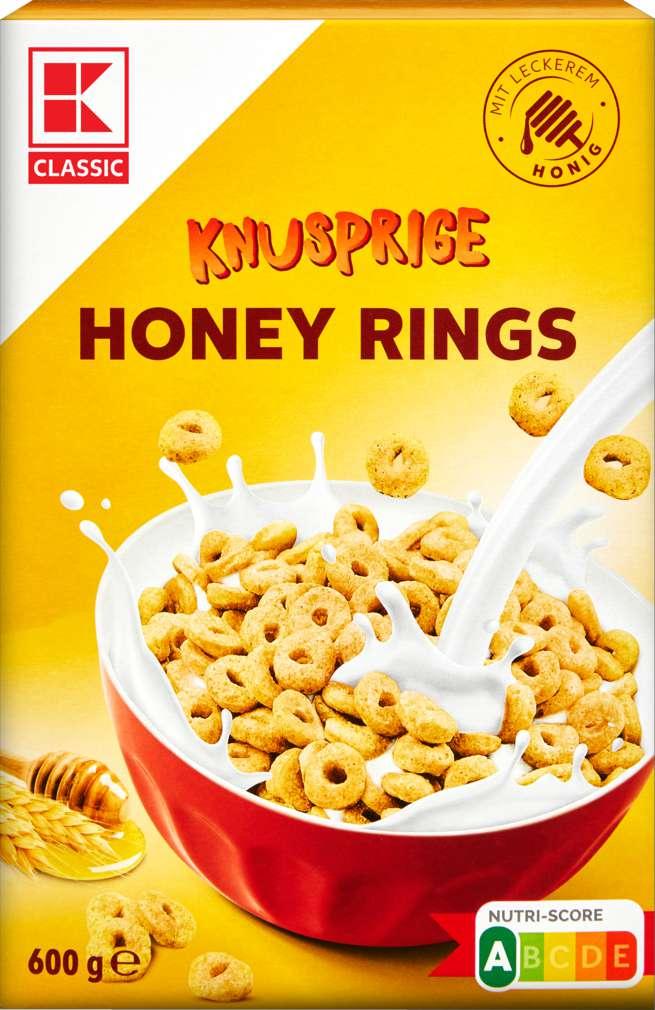 Abbildung des Sortimentsartikels K-Classic Honey Rings 600g