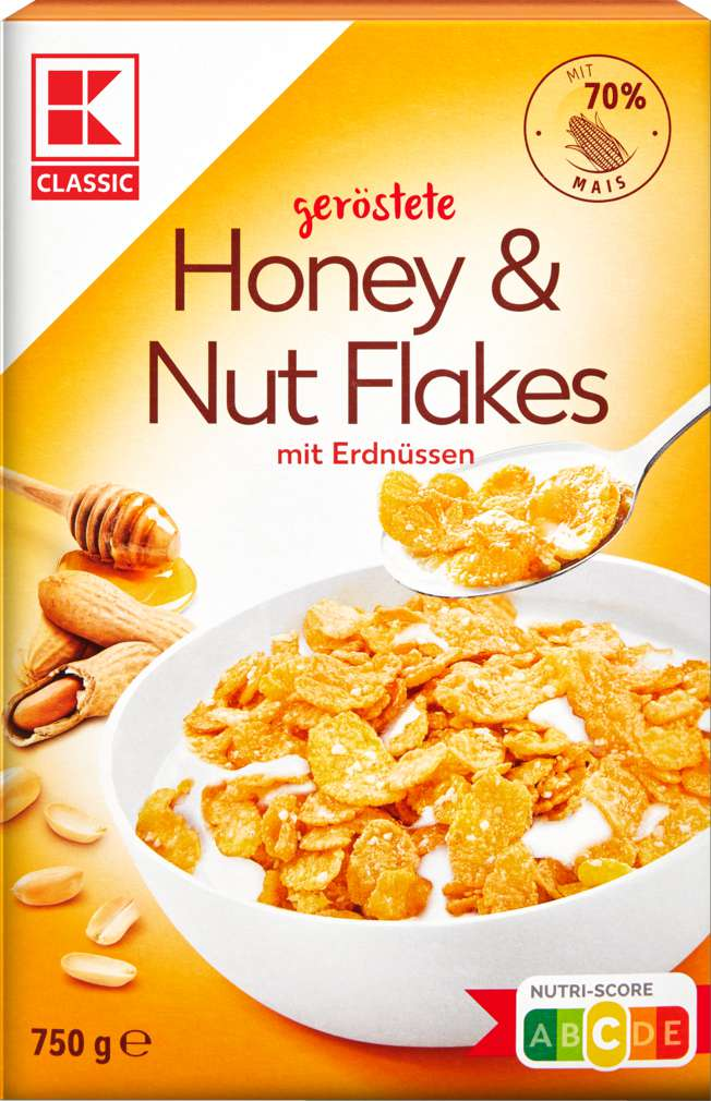 Abbildung des Sortimentsartikels K-Classic Honey+Nut Flakes 750g