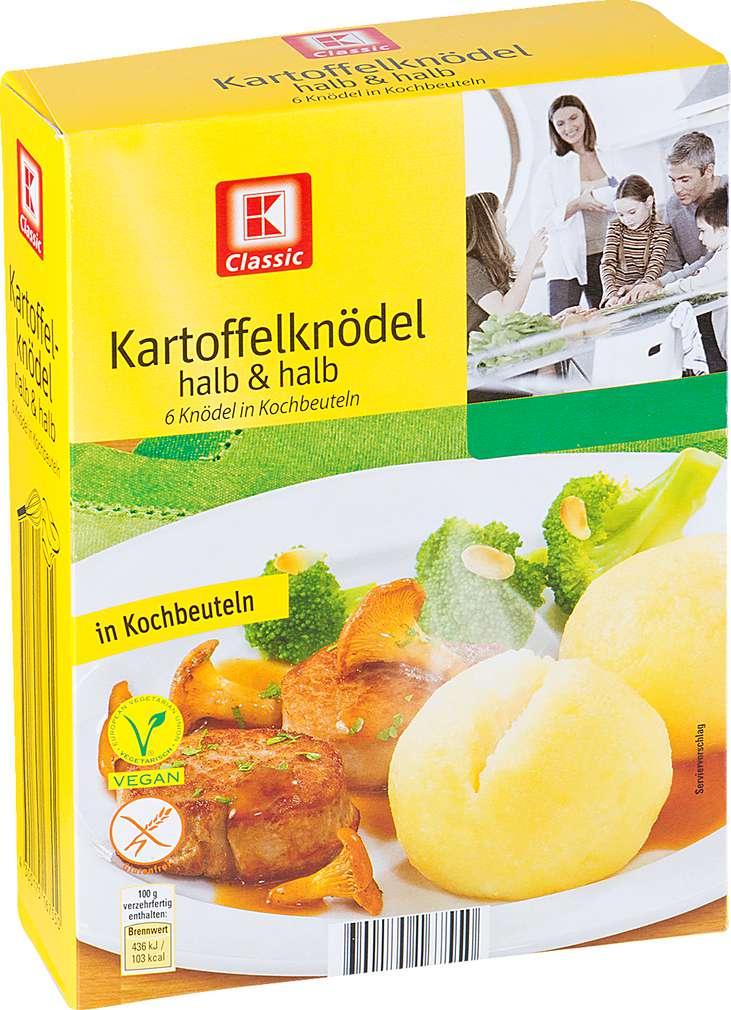 Abbildung des Sortimentsartikels K-Classic Kartoffelknödel halb & halb 6 Stück 200g