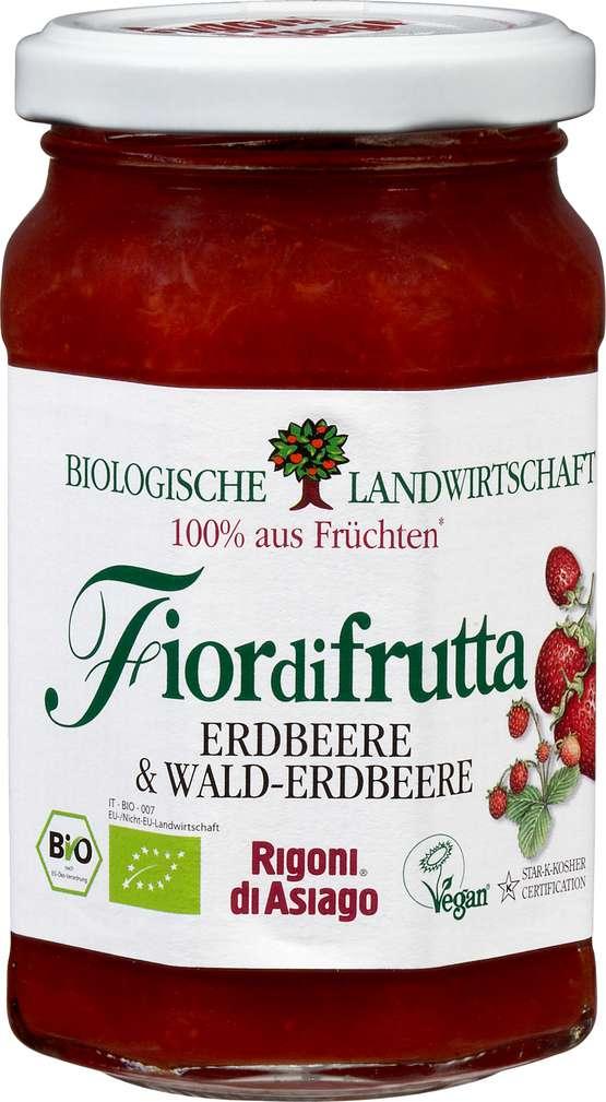 Abbildung des Sortimentsartikels Fiordifrutta Bio-Fruchtaufstrich Erdbeeren und Walderdbeeren 250g