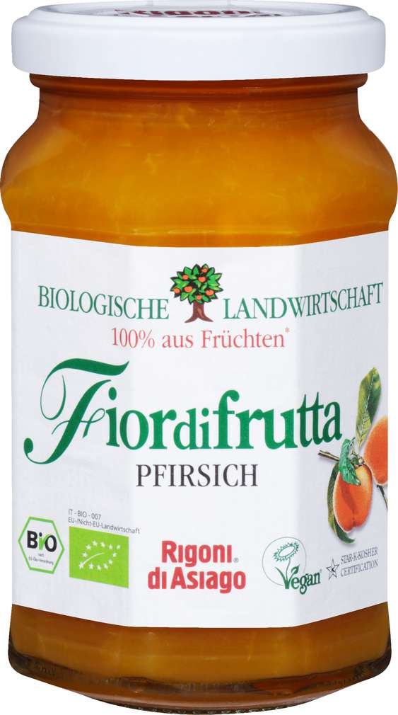 Abbildung des Sortimentsartikels Fiordifrutta Bio-Fruchtaufstrich Pfirsich 250g