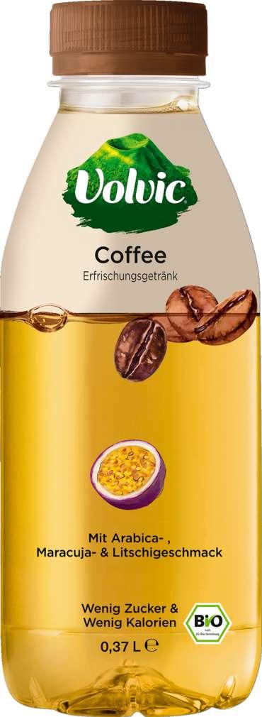 Abbildung des Sortimentsartikels Volvic Bio Coffee Arabica-Maracuja-Litschi 0,37l