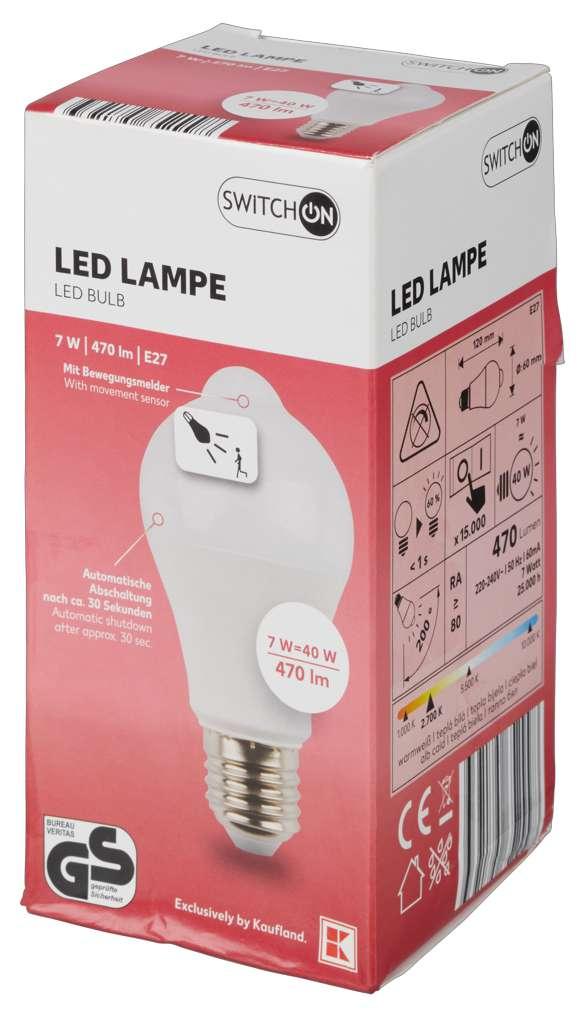 Abbildung des Sortimentsartikels Switch On LED Birne mit Bewegungsmelder