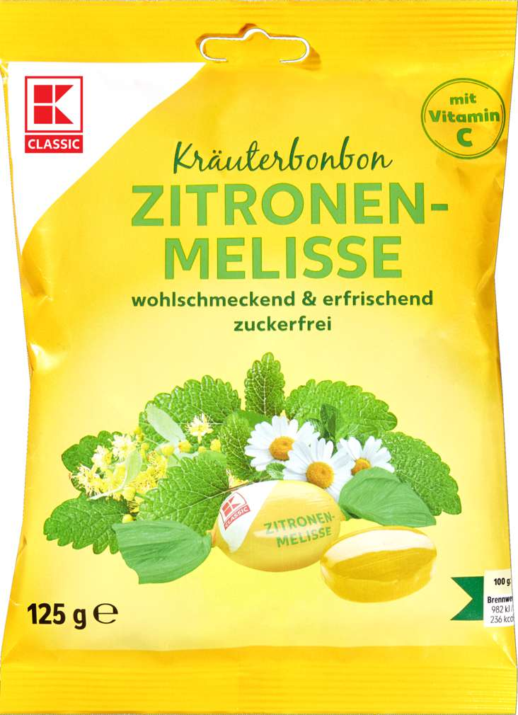 Abbildung des Sortimentsartikels K-Classic Kräuterbonbon Zitrone, zuckerfrei 125g