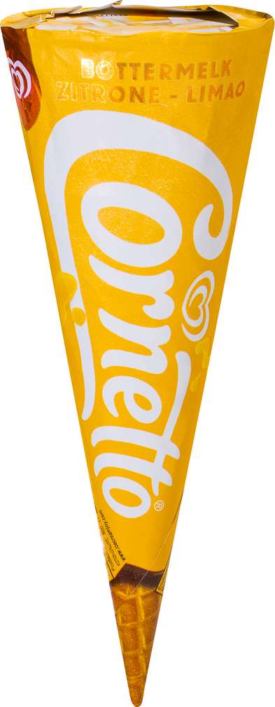 Abbildung des Sortimentsartikels Langnese Cornetto Zitrone 120ml