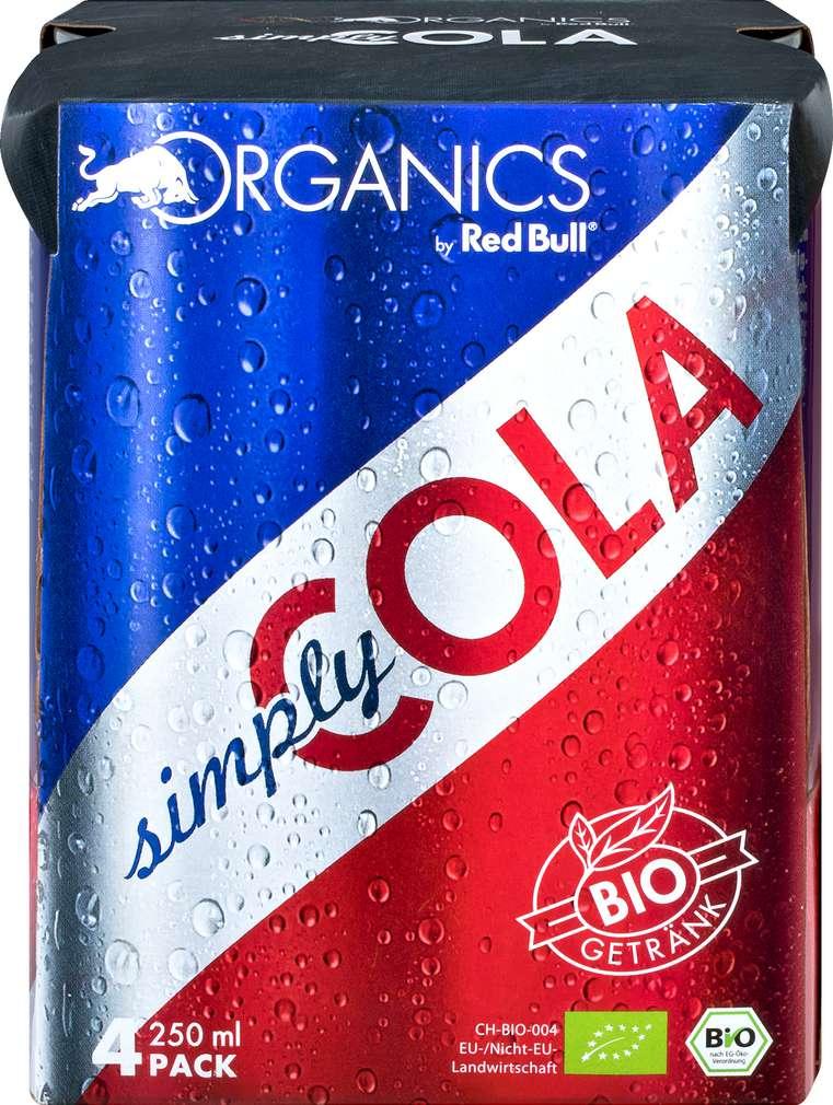 Abbildung des Sortimentsartikels Red Bull Organics Cola 4x0,25l