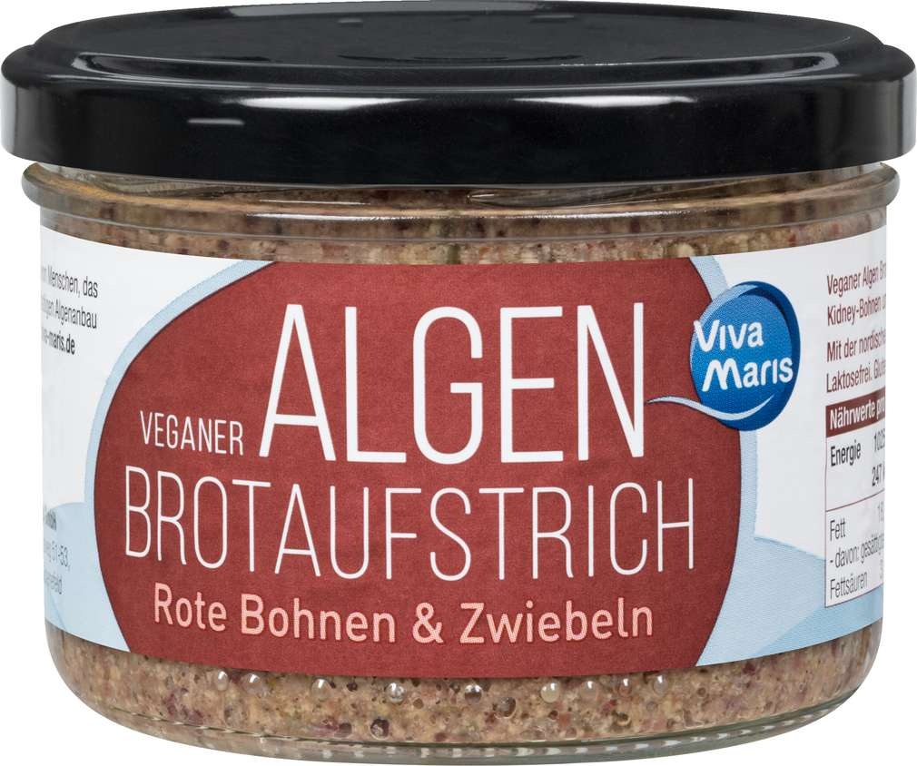 Abbildung des Sortimentsartikels Viva Maris Veganer Algen Aufstrich Rote Bohnen & Zwiebeln 180g