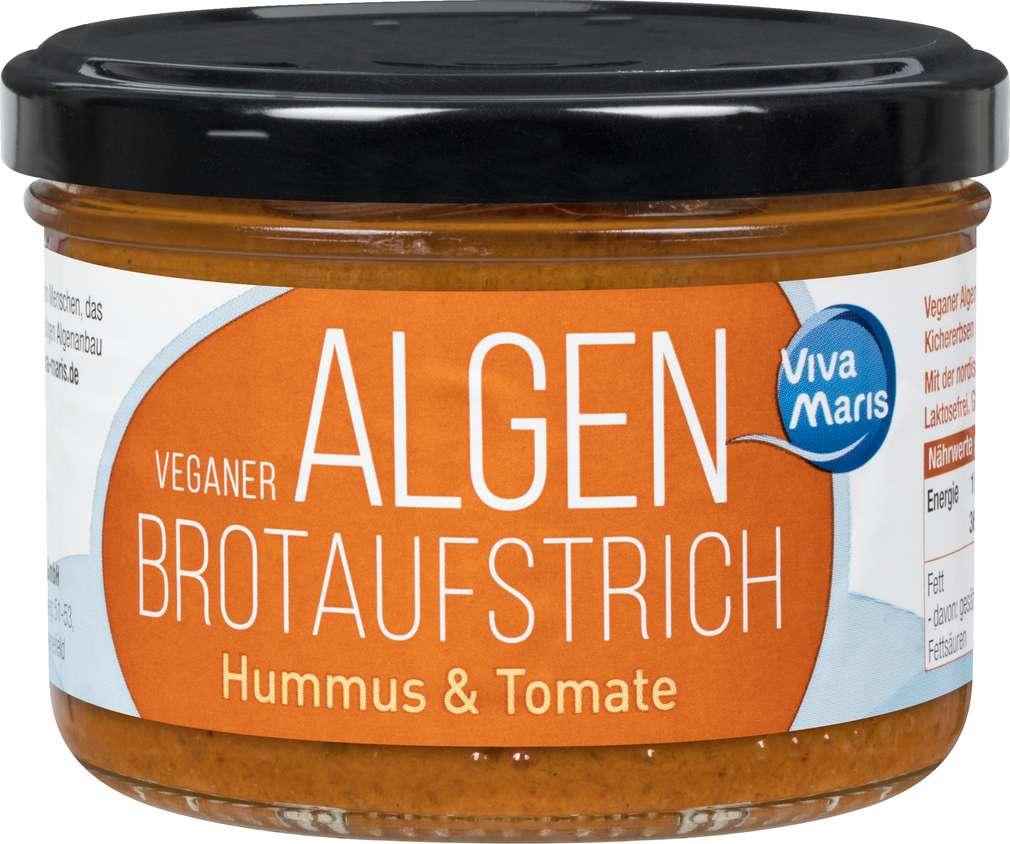 Abbildung des Sortimentsartikels Viva Maris Veganer Algen Aufstrich Hummus mit Tomate 180g