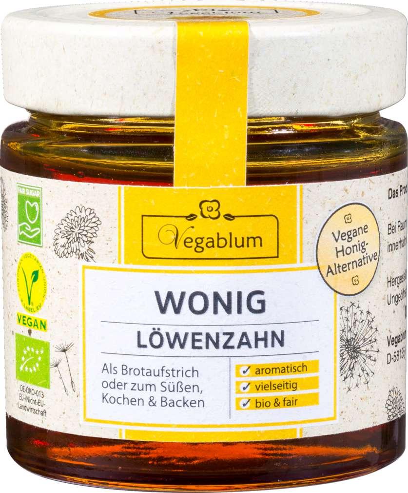 Abbildung des Sortimentsartikels Vegablum Wonig Löwenzahn Vegane Honig-Alternativ 225g