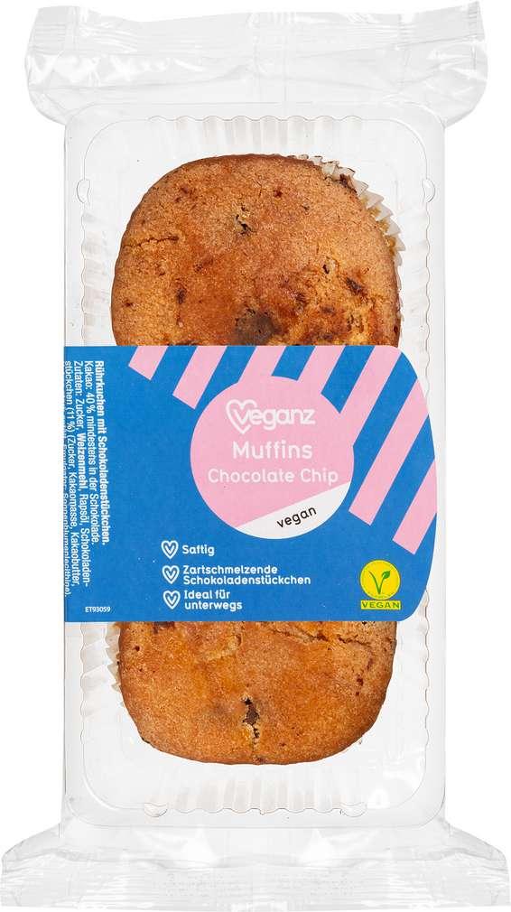Abbildung des Sortimentsartikels Veganz Muffin Chocol.-Chip vegan 150g