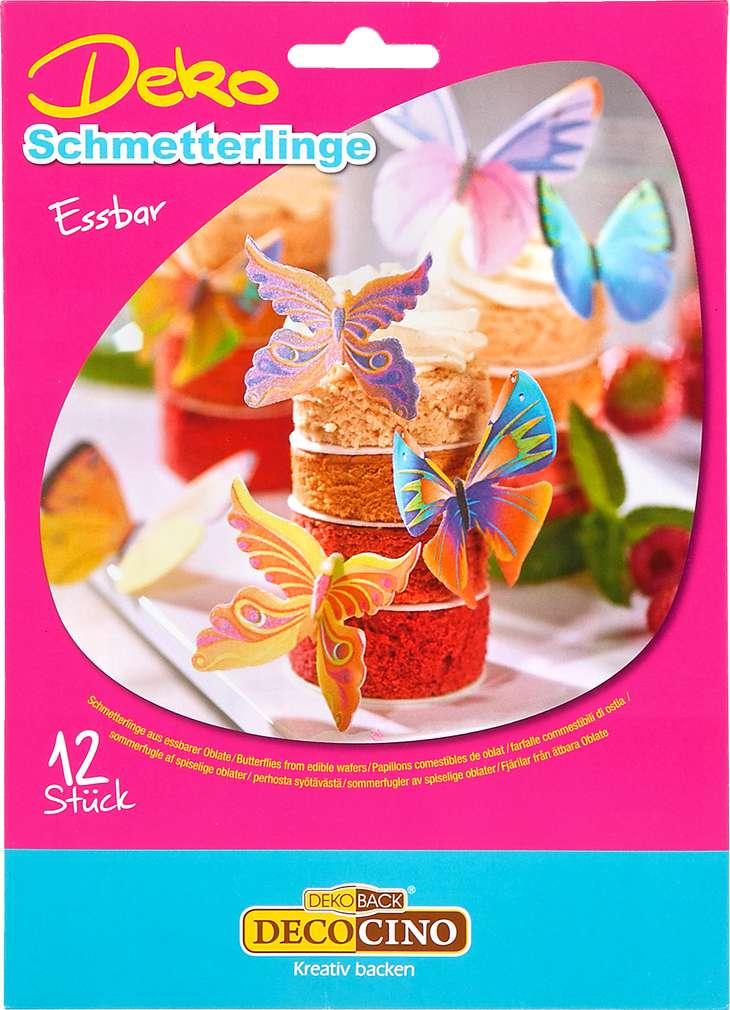 Abbildung des Sortimentsartikels Dekoback Deko Essbare Schmetterlinge 4g, 12 Stück